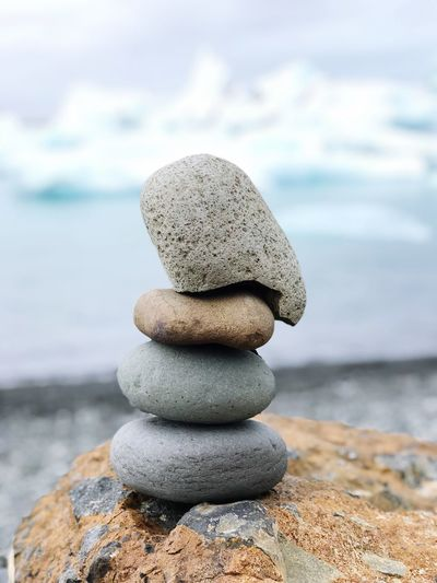 Stonestack Balance Rock Beach Stack Water Land Pebble Sea Stone - Object Sky Rock - Object No People Nature Focus On Foreground Close-up Solid Outdoors Zen-like Stone Tranquility