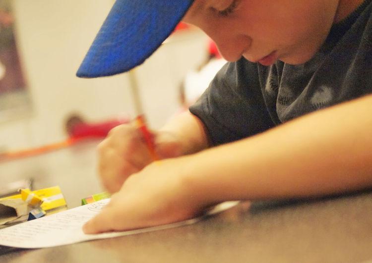 Determination Child Education Focus School Son