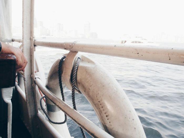 Close-Up Of Life Belt On Boat