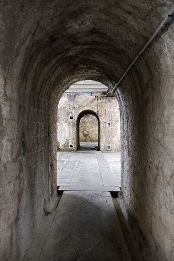 Archway of old building