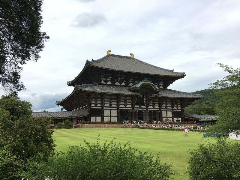 Nara,Japan Architecture Buddist Temple Built Structure Green Color Old Building  Todaiji Travel Destinations