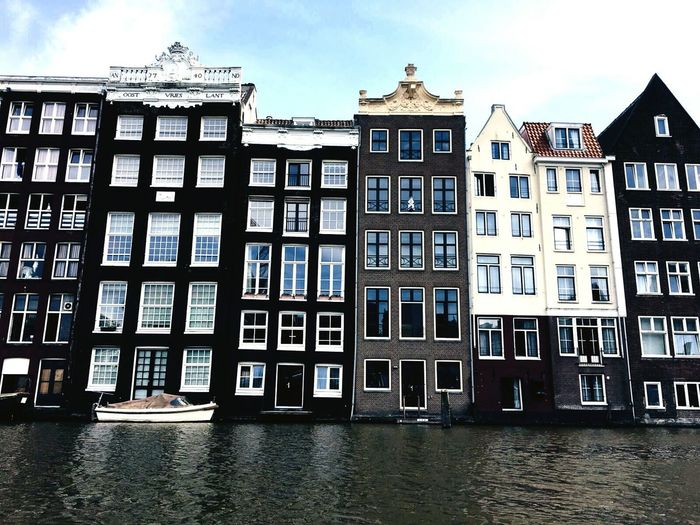 Building Exterior Architecture Cloud - Sky House Day Outdoors Façade No People Window Sky Water City Cityscape Travel Destinations Amsterdamcity