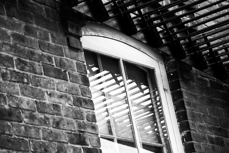 Abstract Architecture Black And White Brick Wall Brink Building Exterior Built Structure Contrast Day Fire Escape LINE Low Angle View No People Outdoors Pattern Textured  Window
