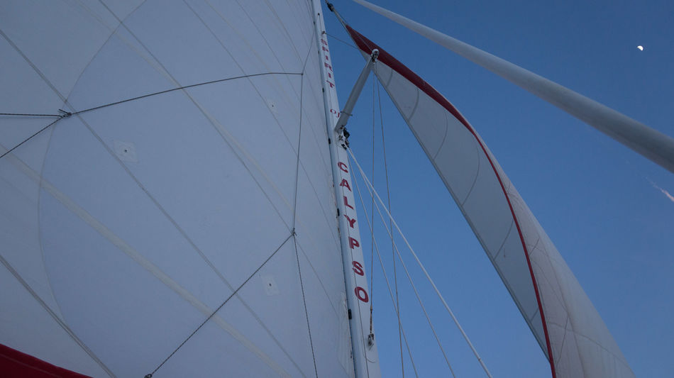 Tropical boat sail at dusk Blue Boat Catamaran Clear Sky Copy Space Day Holiday Lifestyles Low Angle View Luxury Mast Moon Nautical Nautical Theme Nautical Vessel No People Outdoors Sail Sailing Sky Sport Tropical Paradise Vacations Yachting Let's Go. Together.