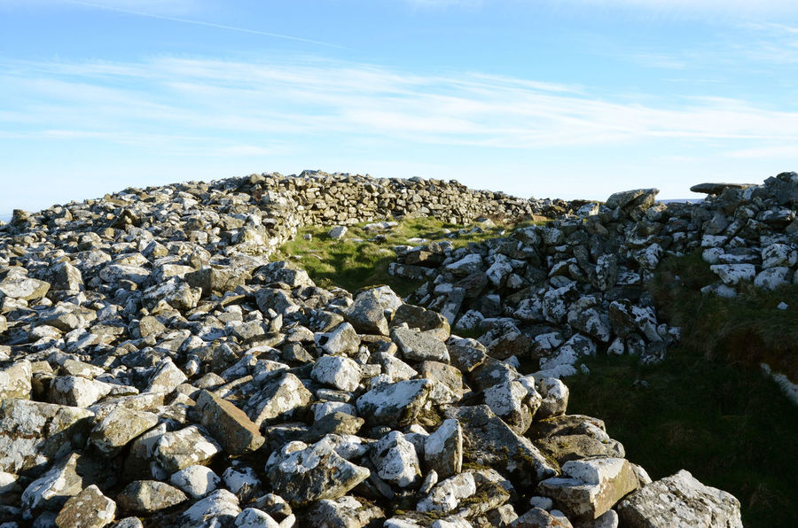 Cobbles Day Hilltop Neolithic Stones Outdoors Rock Pile Sky