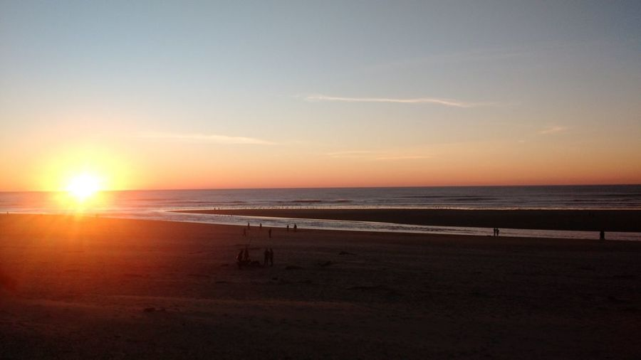 Sea Beach Sunset Horizon Over Water Sun Nature Scenics Idyllic Beauty In Nature Tranquility Sand Sky Tranquil Scene Water Outdoors No People Day Canon Beach