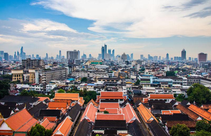 View to the cityscape of bangkok thailand southeast asia