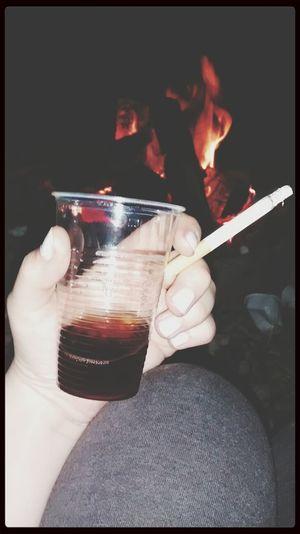 Jack Daniels♥ Coca-Cola ❤ Cigarrets Lagerfeuer