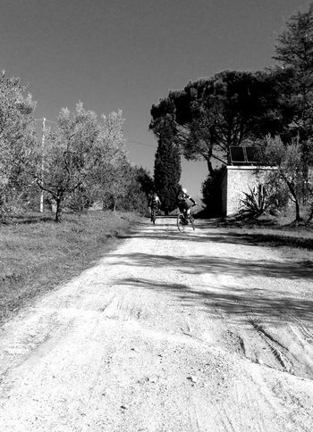 Montalbano MTB Tuscany Countryside Black & White