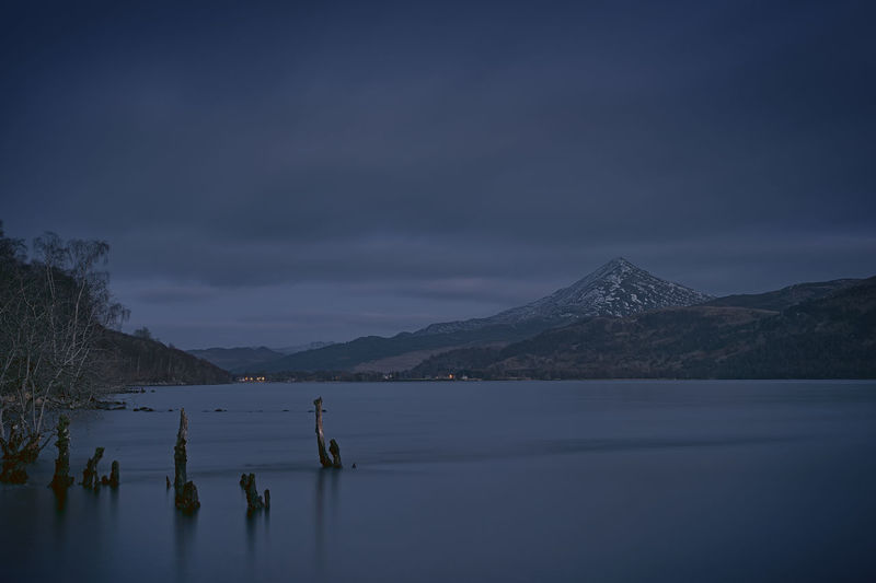 Schiehallion across Loch Rannoch Beautiful Dull Dusk Highlands Idyllic Landscape Landscape_Collection Landscape_photography Loch Rannoch Long Exposure Low Key Mountain Nature Nature Photography PENTAX K-1 Perthshire Schiehallion Scotland Scotland 💕 The Great Outdoors - 2017 EyeEm Awards
