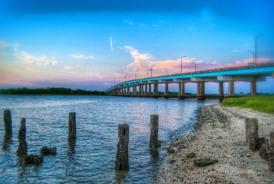 Remnants. EyeEm Charleston Bridge Cloud And Sky Urban Geometry