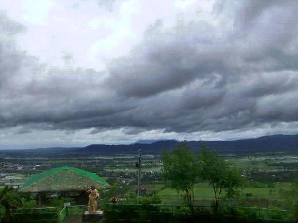Flying High Kawa Kawa Hill, Ligao City Scenics Built Structure Beauty In Nature High Angle View Trekking Jesus Christ