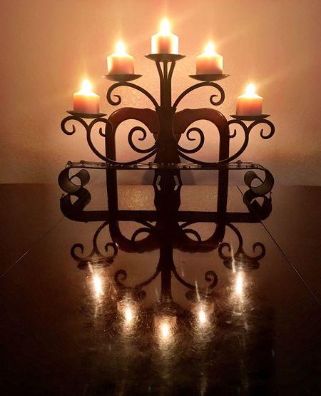 True Reflection Contemplating Capturedlight Candles Candleholders Reflection Lightreflections Lightreflections