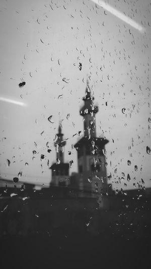 Mosque Rain Rainy Days Train Window From A Train Window Sad Day Praying Black & White Sad day in Argentina.