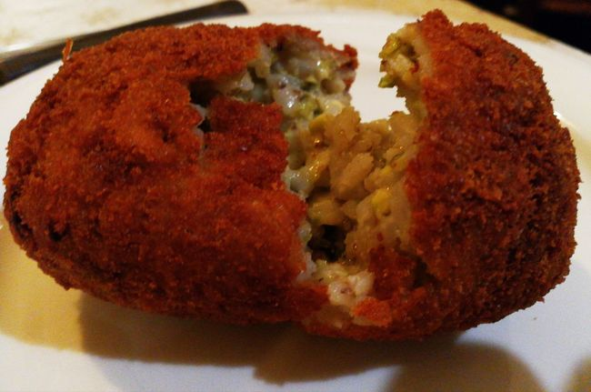 """""""Arancino o Arancina"""" Arancini Sicily Italy🇮🇹 No Filter Nofilter Food Food And Drink Ready-to-eat Indoors  Freshness Plate No People Gourmet Temptation Appetizer"""