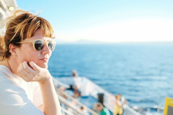 Sunglasses Sea Water Glasses One Person Fashion Portrait