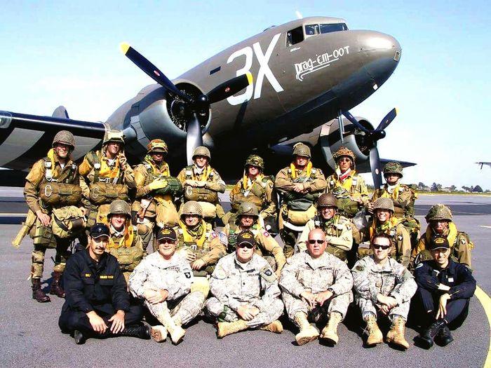 Airborne All The Way Liberty Jump Team Paratroopers The Paratrooper Diaries Reenactment Us Army Sainte Mère Eglise Normandie Veterans La Fière