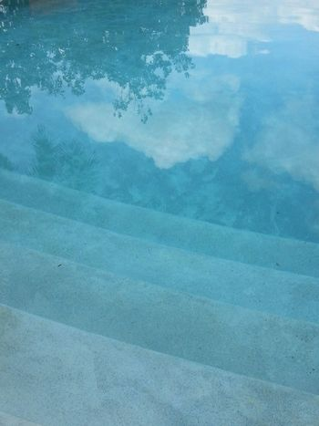 Water Pool Reflection Blue