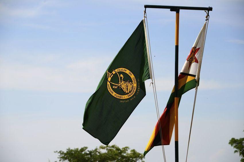 Flagpole Rhodes Matopos National Park MatopoHills National Park Rhodes UNESCO World Heritage Site Zimbabwe Africa Flag Flags Rhodes Matopos National Park Unesco
