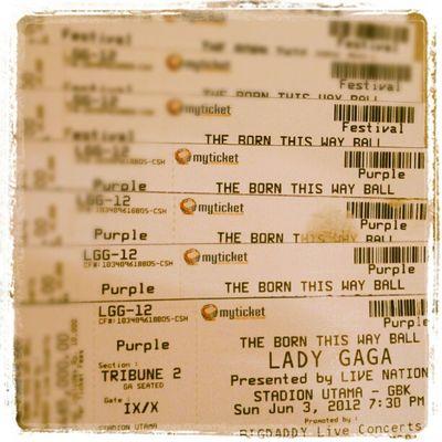 Goodbye Gaga.. Ticket Concert Ladygaga INI tiket mau direfund