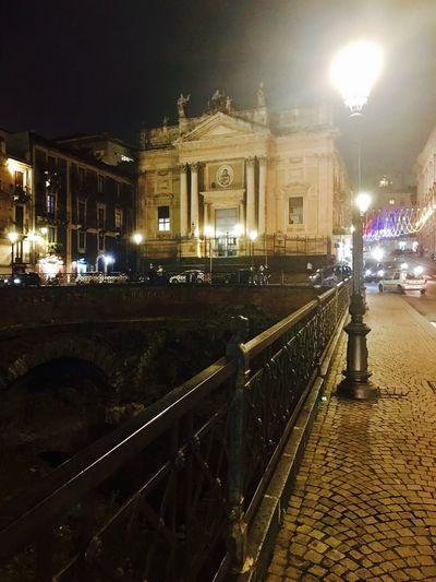 Piazza stesicoro di notte, Catania, scavi di Catania antica Architecture Night Outdoors Catania, Sicily Piazza Scavi