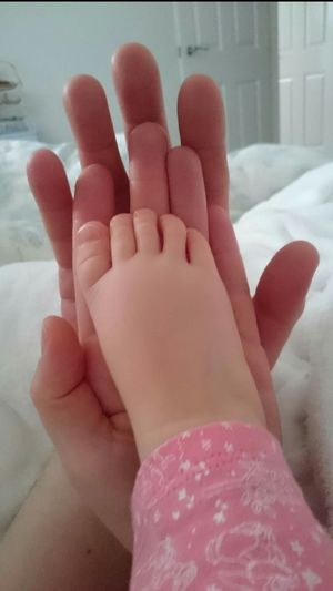 Love Family 3 Of Us Mummy Daddy Baby Valentine's Day  Valentines Day Love True Love Beautiful So Simple No Filters Or Effects Human Body Part Hands Foot Feet Fingers Toes Human Hand Beauty Close-up People Indoors  Day White Sheets