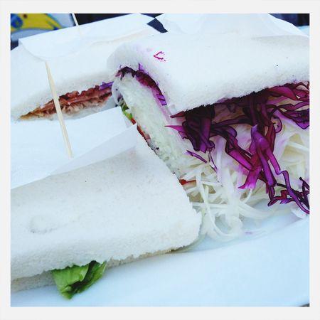 Vegetables tramezzini. Food Vegetarian Food tTramezzini Sandwiches