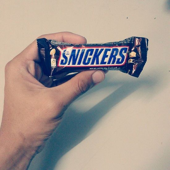"""""""hungry? grab a snickers!"""" . ready for sahur :) Snickers Chocolate Uitm Interiordesignstudent"""