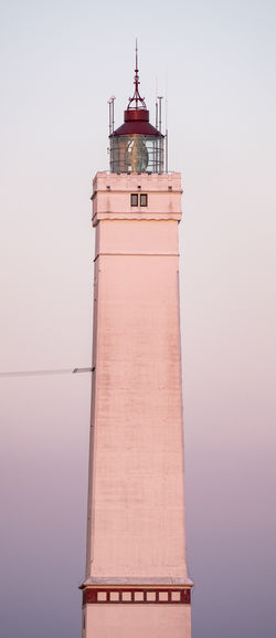 Lighthouse Blåvand. Blåvand Lighthouse Architecture Building Building Exterior Built Structure Day Direction Guidance History Lighthouse Low Angle View Nature No People Outdoors Sky Spire  Tall - High The Past Tourism Tower Travel Travel Destinations