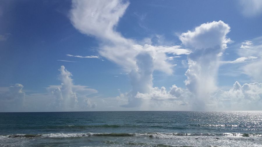Oceanscape Cloudscape Beautiful Beach not good for fishing today but Florida Life is always good