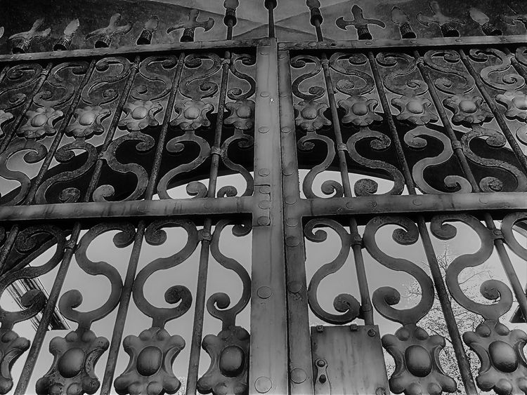 garden gate Antique Gate Architecture Backgrounds Backyard Gate Black & White Black And White Blackandwhite Close-up Day Full Frame Garden Entrance Garden Gate Gate Iron - Metal Iron Gate Metal Metal Gate Metalwork No People Old Gate Outdoors Pattern Security Bar Wrought Iron