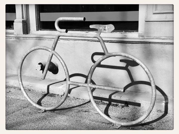 "©ann norsworthy ""Where's Annie 11/22/14"" Bicycle Urban Landscape Black & White IoLIGHTstudios"