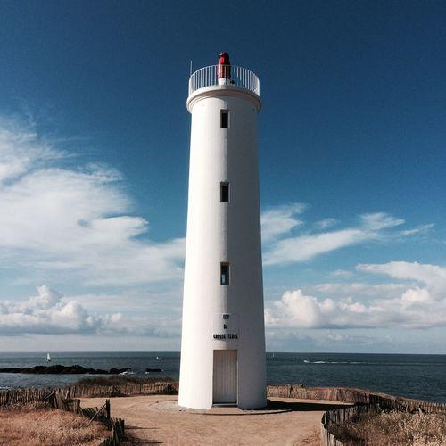 2017 Lighthouse Sea Horizon Over Water Sky Water Built Structure Cloud - Sky No People Feu De Grosse Terre Vendée The Week On EyeEm