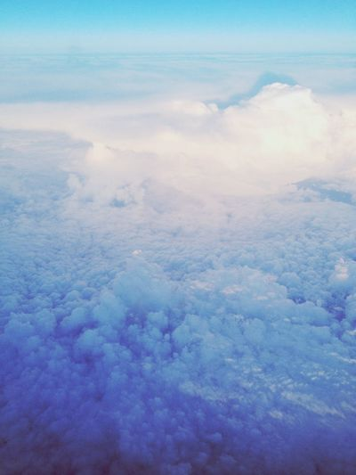 Clouds And Sky From An Airplane Window Blue Sky First Eyeem Photo