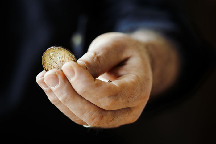 Close-up Coin Currency Day Finance Holding Human Body Part Human Hand Indoors  One Person People Rare