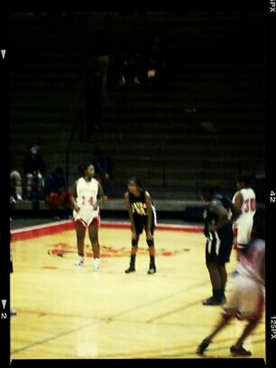 This kind of blurry but yeah your girl hoops. Basketball Ballerslife