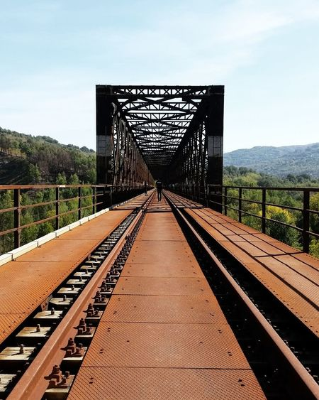 Railroad Track Bridge - Man Made Structure Rail Transportation The Way Forward Day Transportation No People Outdoors Sky Avellino Ponte Vecchio Ferrovia Nature Lost In The Landscape Connected By Travel