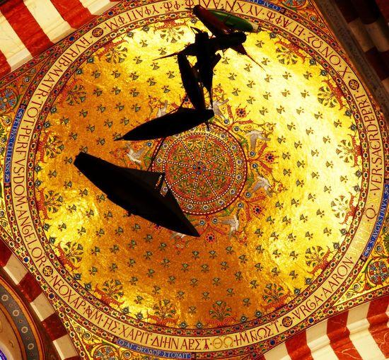 Gold Marseille Famous Place BonneMère Boat Exvoto