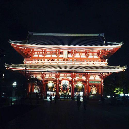 Last for tonight Japan Tokyo Night Tokyo Temple Senjoji Senjoji Temple