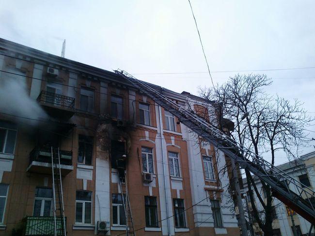 Architecture The Week On Eyem Smoke Fire Firetruck Odessa Fireescape Architecture WeekOnEyeEm Winter