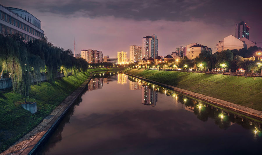 Cities At Night City Cityscape Hefei Illuminated Night Nightscape Reflection River Water