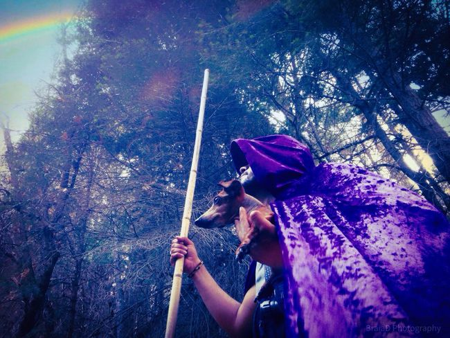 Enchantment Visual Creativity Real People One Person Lifestyles Nature Outdoors Leisure Activity Women Arts Culture And Entertainment Purple Event Motion Clothing Standing Adult Plant Water Hat Day EyeEmNewHere