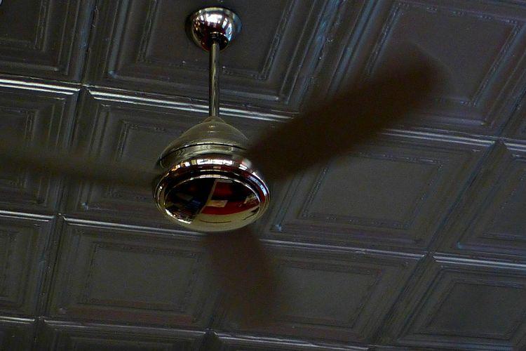 Moving ceiling fan. Ceilingfan Motion Blur Restaurant Chrome Photography In Motion