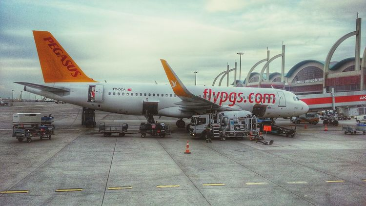 Flying Away Istanbulove Low Cost Paradise  Pegasus Airlines Airbus A320 Winglet Going To An Exotic Place