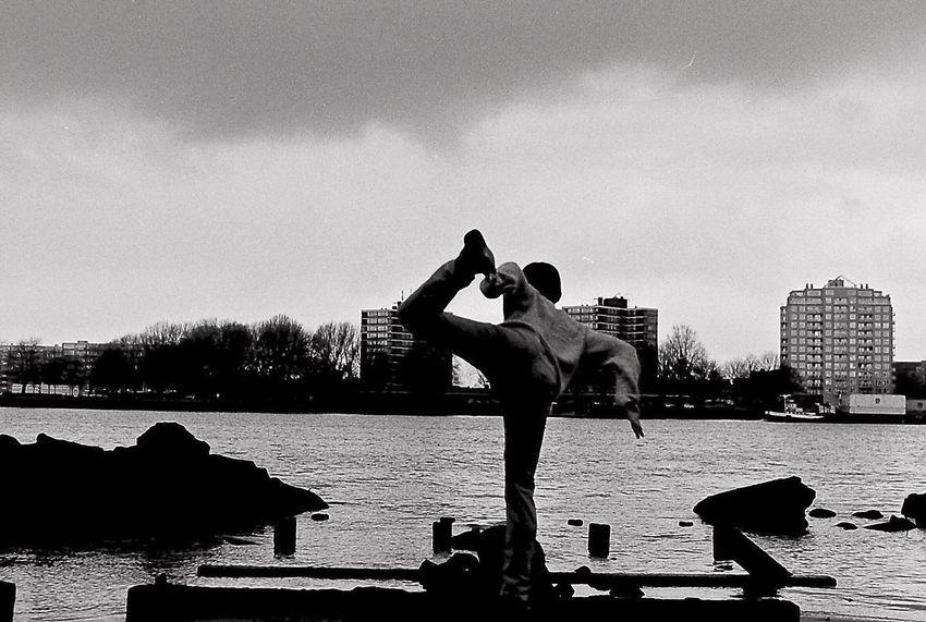 City Sky Water Person Cloud - Sky Outdoors Dancer Skyline Analog Analogue Photography