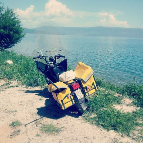 Tomos Bike Motorcycle Tomos Elenkamen lake