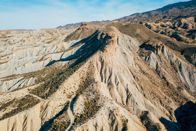 DJI X Eyeem Desert Wild West Aerial View Arid Climate Beauty In Nature Day Desert Landscape Landscape Mountain Mountain Range Nature No People Outdoors Physical Geography Sand Scenics Sky Tabernas Desert Tranquil Scene Tranquility Western