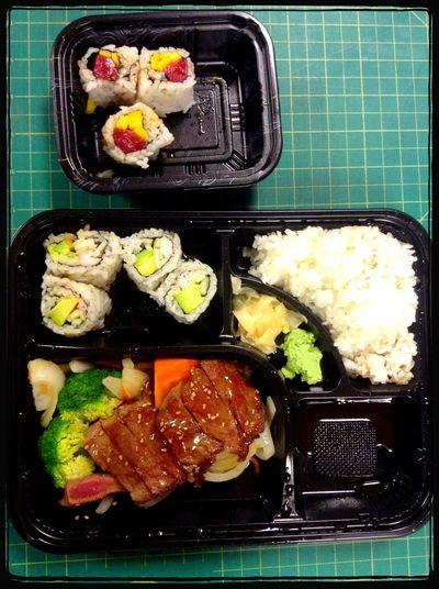 Lunch Sushi Beef Teriyaki Yummy