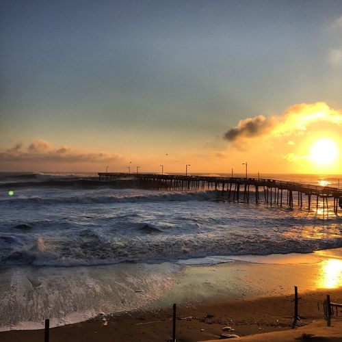 Check This Out Coastal Life Coastalstorm OBX Outer Banks, NC Yew Waves Waves Crashing Beach Pier EyeEm Best Shots Showcase: February 🌊☀️🏄🏼📷 Surf's Up