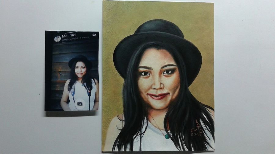 I'm spouse to post 2 more fruits witch it's ready to be shown but since i promised my dear friend MEI MEI to paint her portrait and she ok me to paint her gorgeous face so i decided to post her painting instead of another fruit, so here it is and Mai mai i hope you like this and also i truly appreciate your friendship, thank you . oil on canvas painted yesterday. Drawing Art Art, Drawing, Creativity Paintings Drawings